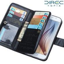 2 в 1 кошелек чехол для Samsung Galaxy S6 кошелек Чехол Флип слота кожа карты сумочка Роскошный кошелек кожаный крышка автомобильный держатель