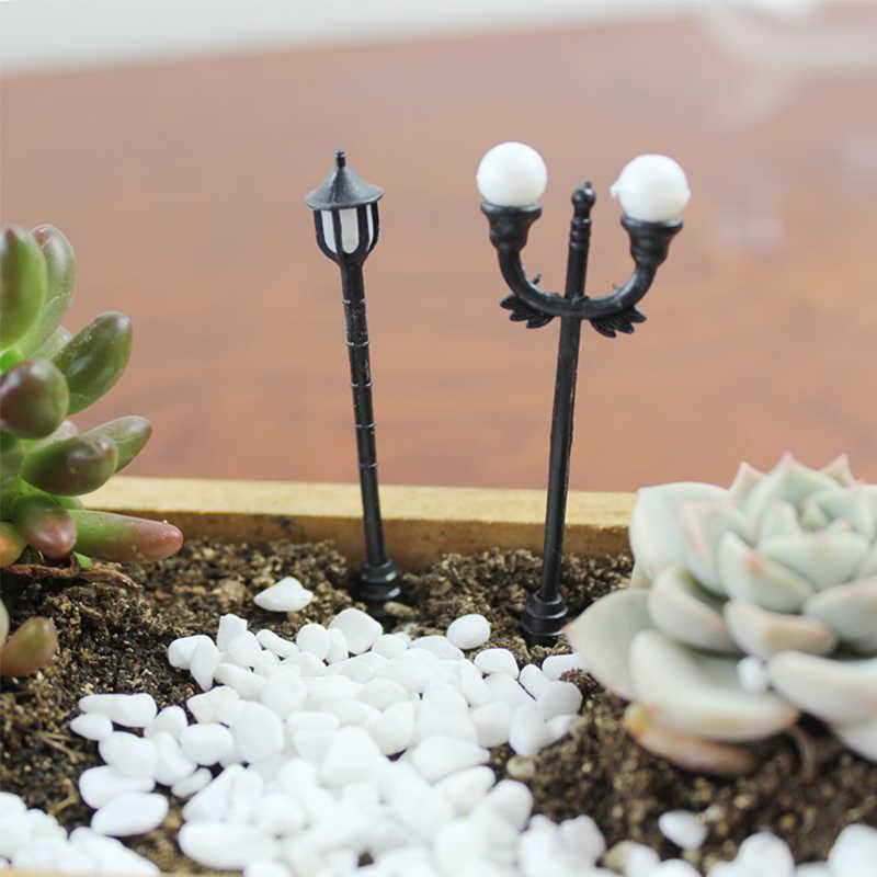 Kerajinan Vintage DIY Miniatur Lampu Kreatif 1PC Rumah Taman Dekorasi Mini Buatan Mikro Lansekap