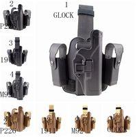 Hot Sells Outdoor 1911 M92 P226 G17 Right Hand Clip GLOCK Single Woven Belt Leg Sleeve Gun Holster Bag Case Hunting