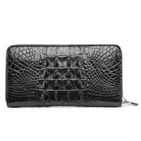 2019 luxury real crocodile leather wallet men's long leather multi-function wallet business clutch bag handbag anti-theft brush