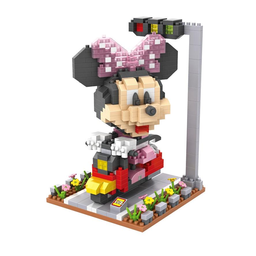 Super LOZ Micro Blocks Cartoon Minnie 3D Mini Blocks Goofy DIY Building Bricks Daisy Juguetes Children Gifts Kids Toys 9634-9639 micro mini tesla coil with a beautiful head diy kits for kids diy toys