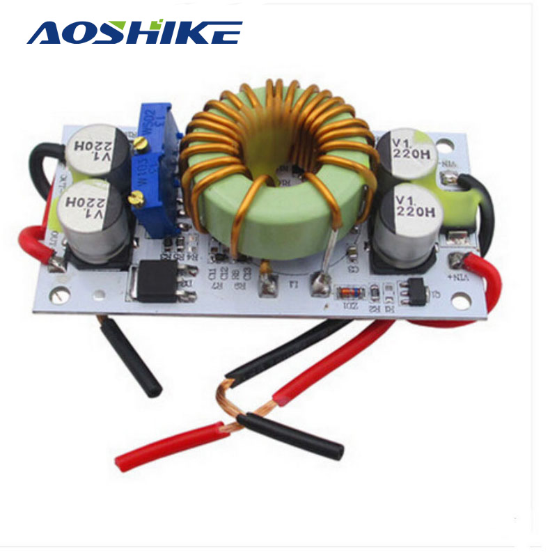 AOSHIKE 250W High-power DC-DC 12V To 24V 48V Step-up Module Mobile Power Supply LED Driver Boost Converter 24v to 48v 40a dc dc converter regulator car step up boost module switching power supply on board