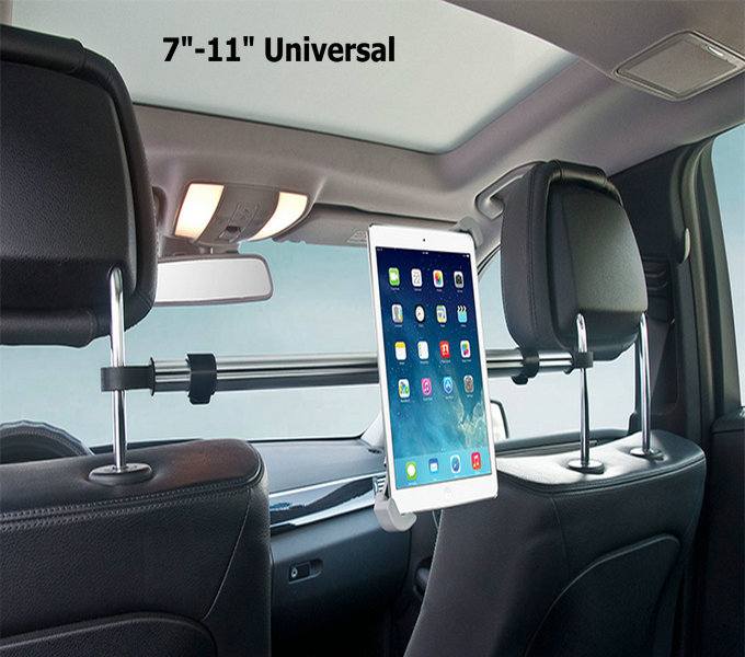 Factory Direct Sale 7″-11″ Aluminum Tablet Holder Mount For iPad Mini 2 3 4 Air 2 For Samsung Xiaomi Soporte Tablet Car Stand