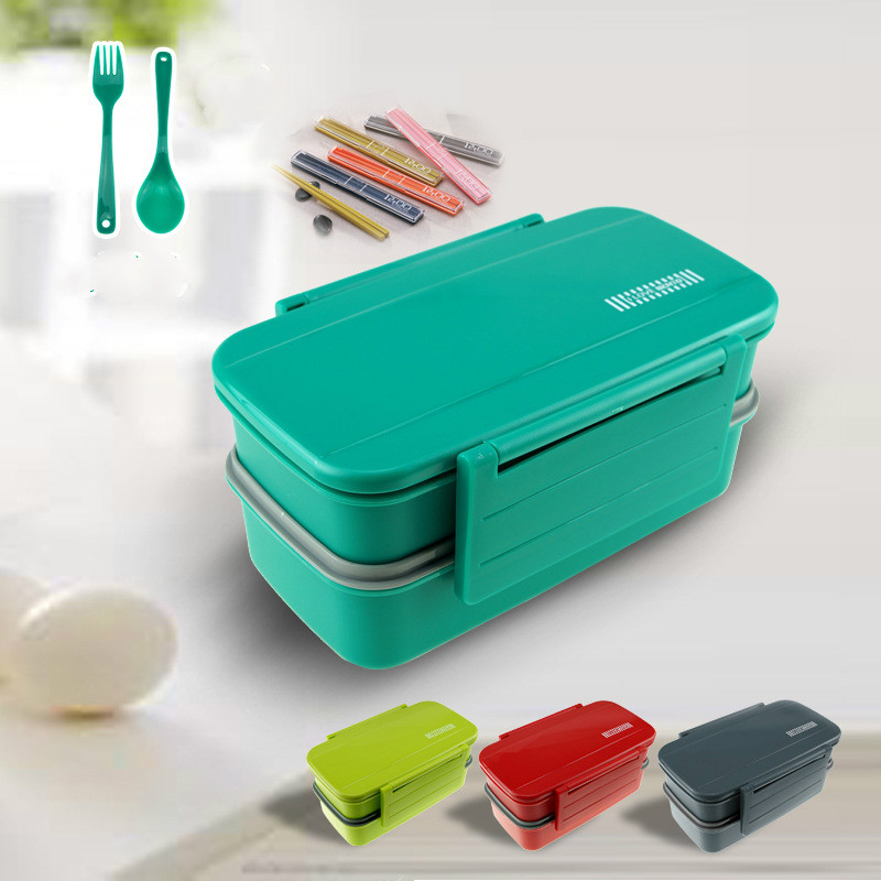 bento lunch box tableware bento box with separated seal large capacity lunch box spoon fork. Black Bedroom Furniture Sets. Home Design Ideas