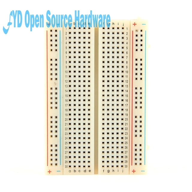1pcs Quality mini bread board / breadboard 8.5CM x 5.5CM 400 holes