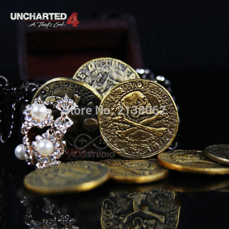 PS4 Uncharted 4 Een dief's end pirate Gold Coin ketting Drake laatste adventure