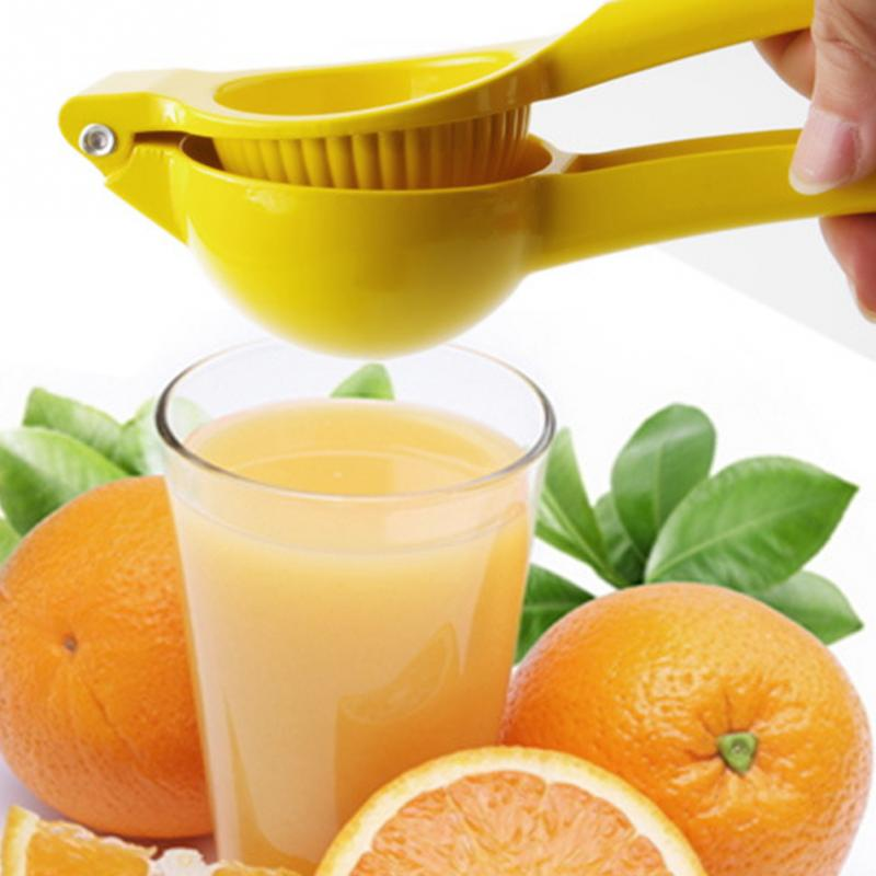 Press-Strainer Juicer Lemon Manual-Lemon-Juicer Yellow Handle Multifunctional Squeezeer