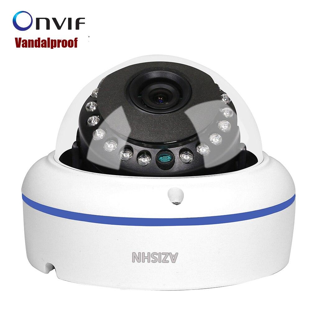 Vandalproof 2 8 3 6mm wide angle Onvif P2P 720P 960P 1080P IP Camera HI3518EV200 Hi3516CV300