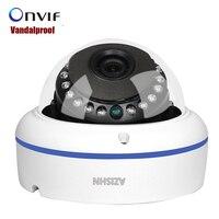 Vandalproof 2 8 3 6mm Wide Angle Onvif P2P 720P 960P 1080P IP Camera HI3518EV200