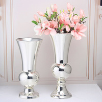 Metal silver plated vase home living room wedding table decoration party arrangement