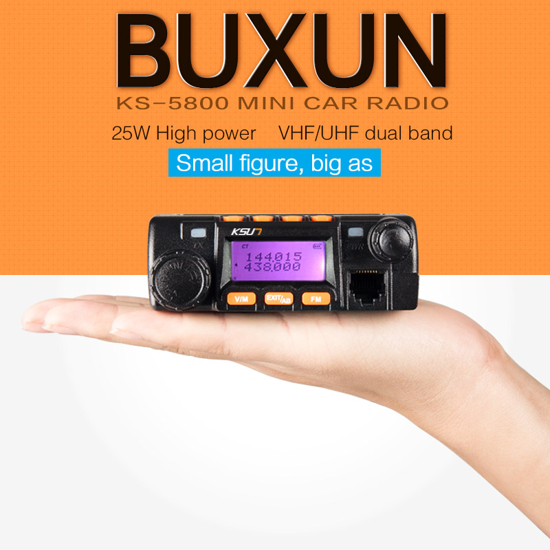 Mini car radio BUXUN KS-5800 two way radio 136-174/400-480MHz dual band mobile transicever walkie talkie