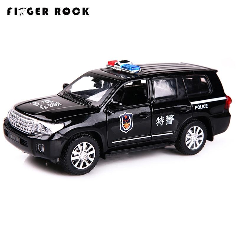 Finger Rock 1/32 весы имитация Land Cruiser полицейская Авто модель литой под давлением