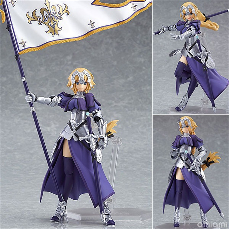 Anime Fate Grand Order Jeanne d'Arc Ruler Figma 366 PVC Action Figure Collection Model Kids Toys Doll 14cm anime sword art online figma 314 leafa kirigaya suguha pvc action figure collection model kids toys doll 14cm swaf004