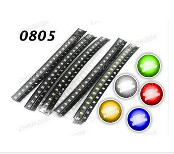 Active Components Led 0805 2012 Rohs/red/blue/jade Green/dark Green/yellow/white/orange/purp Smd 3000pcs/reel In Stock Free Shipping
