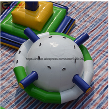 Popular water pool toys inflatable floating water gyroscope 2.5m inflatable saturn rocker for sale inflatable floating water game cheap inflatable water park for sale