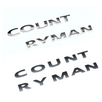 For Mini Cooper Countryman Rear Trunk Badge Emblem Car Logo Styling 3D Metal Decal Sticker For