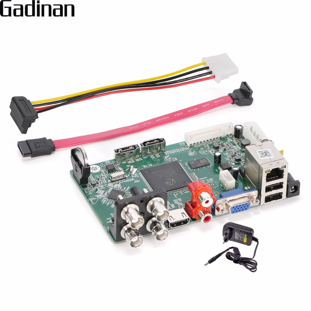 GADINAN 4 Canal DVR 1080N AHD/TVI/CVI/CVBS/IP Cinq DANS Un ONVIF VGA HDMI Full HD sortie Pour AHD Caméra Détection de Mouvement hybride
