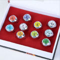 Hot Sell! new Cosplay 10 pcs NARUTO Akatsuki member's Ring Set
