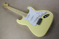 Stratocaster Scalloped Fingerboard Dimarzio Pickups Vintage Yellow Cream Yngwie Malmsteen Guitar Big Head ST Electric Guitar