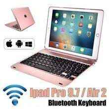 Новое обновление ультра тонкий IPad Pro 9,7 планшетный ПК Bluetooth клавиатура AIR 2 Беспроводная Bluetooth откидная клавиатура
