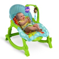 Multifunctional Baby Rocking Chair Baby Folding Vibration of Placating The Chaise Lounge Child Rocking Chair Swing Bed Cradle