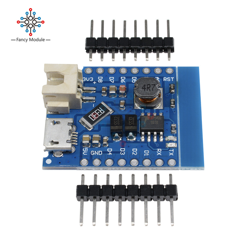 WeMos D1 Mini Single Lithium Battery Micro USB Charger Board 1A Battery Boost
