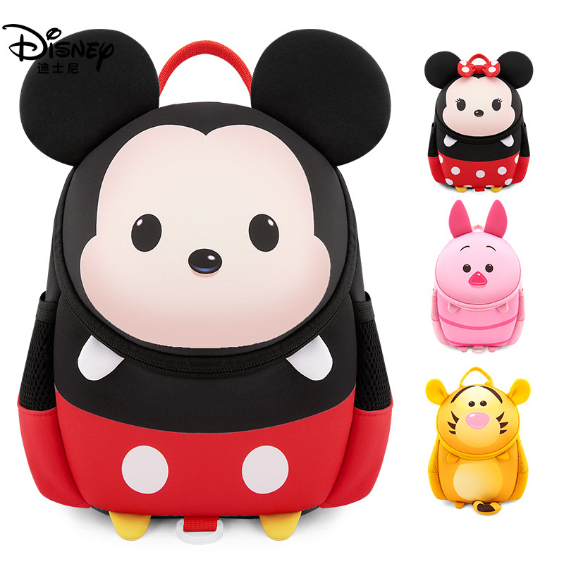 New Disney Bland Waterproof School Book Backpack Ultralight Baby Bags Kids With Traction Rope Anti-lost Bag As A Brithday Gifts