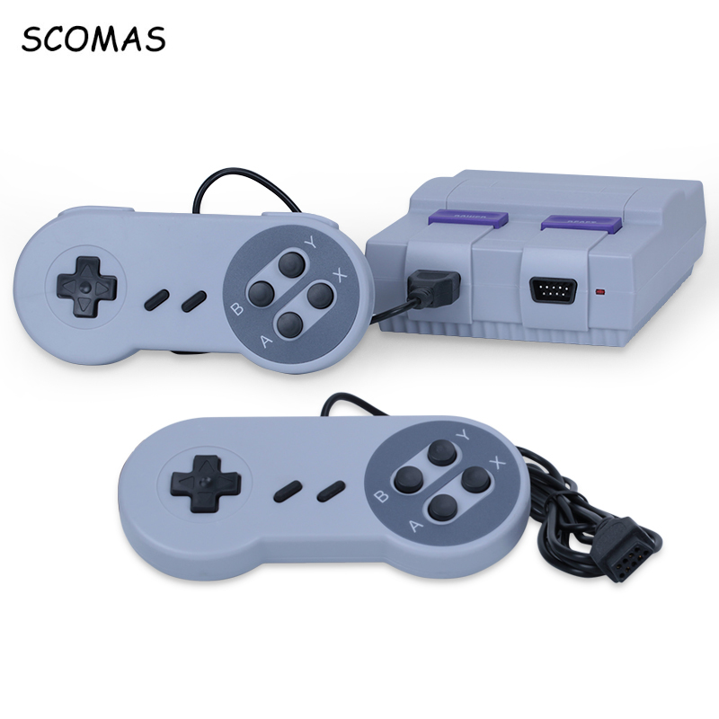SCOMAS AV Out Retro Classic Handheld Game Player Console Portable Mini Family TV Video Built-in 400 Games Dual Gamepad Consoles