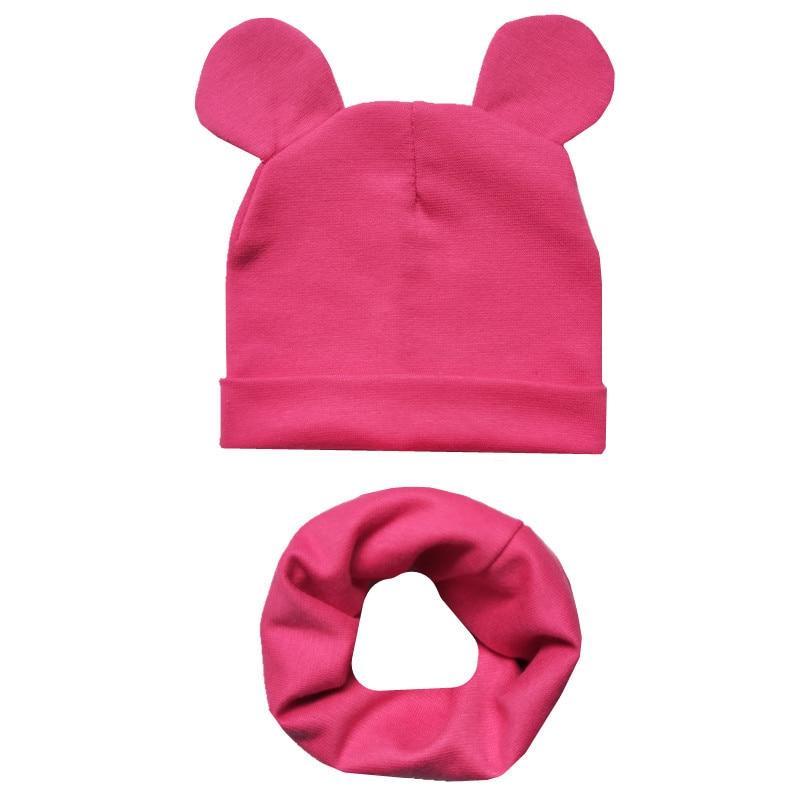 Baby Hut Schal Set Niedlichen Ohren Schal Für Baby Jungen Mädchen Mützen Baumwolle Kinder Hüte Schals Set Baby Mädchen Kappen foto Requisiten