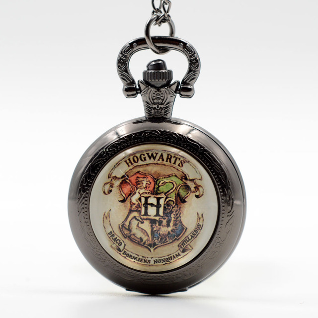 New Harry Potter H Hogwarts School of Witchcraft and Wizardry Quartz Pocket Watc