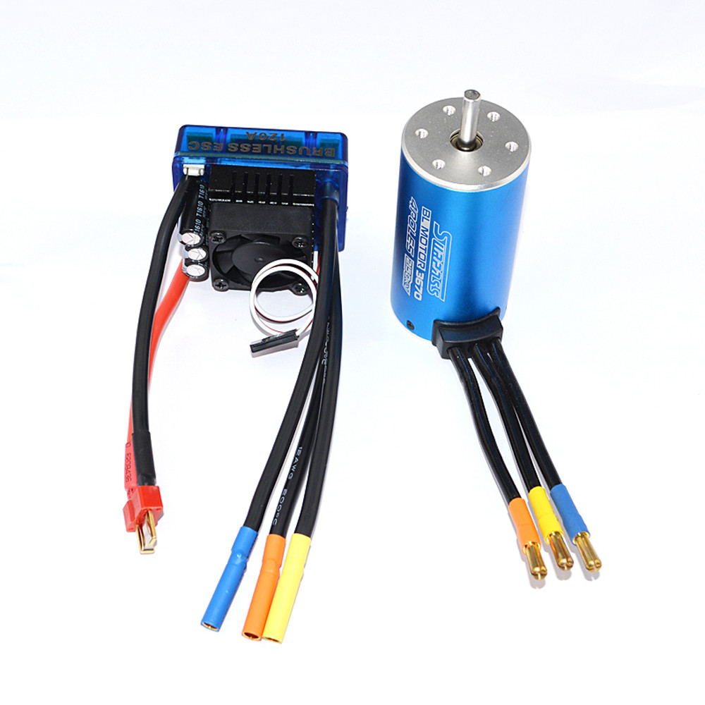 High Quality  MOTOR CLASSIC BRUSHLESS SENSORLESS BL 3670 2150KV +Sensorless 120A Brushless ESC  Hot Sale ldpower fr2307 2150kv brushless motor