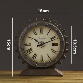 Vintage Tischuhr | Vintage Stille Retro Uhr Schreibtisch Uhr Dekorative Küche Tisch Uhr Bewegung Uhren De Pared Casa Antiken Stil Uhr WZH036