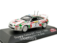 1:43 ATLAS Editions Collections Rally Monte Carlo Model Car Toyota Celica GT Four 1995 Diecast Miniature Racing