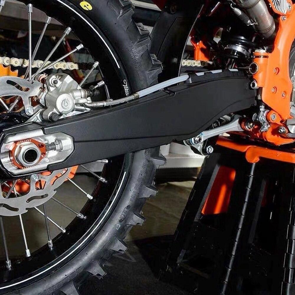 Купить с кэшбэком Motorcycle Swingarm Swing Arm Protector Cover Guard For KTM EXC EXCF XCW Tpi XCFW Six Days 150 200 250 300 350 450 500 2012-2019