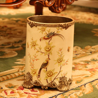 retro resin garbage cans, American pastoral, rural decorative arts and crafts high end storage barrel sundries bucket