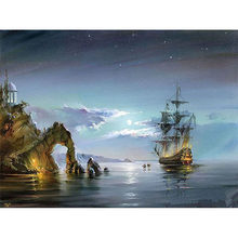 Artsailing Pictures By Numbers Wonders Ship Sea Scenery Paintings by Numbers On Canvas Poster Picture by Numbers DIY Kit NP-023(China)