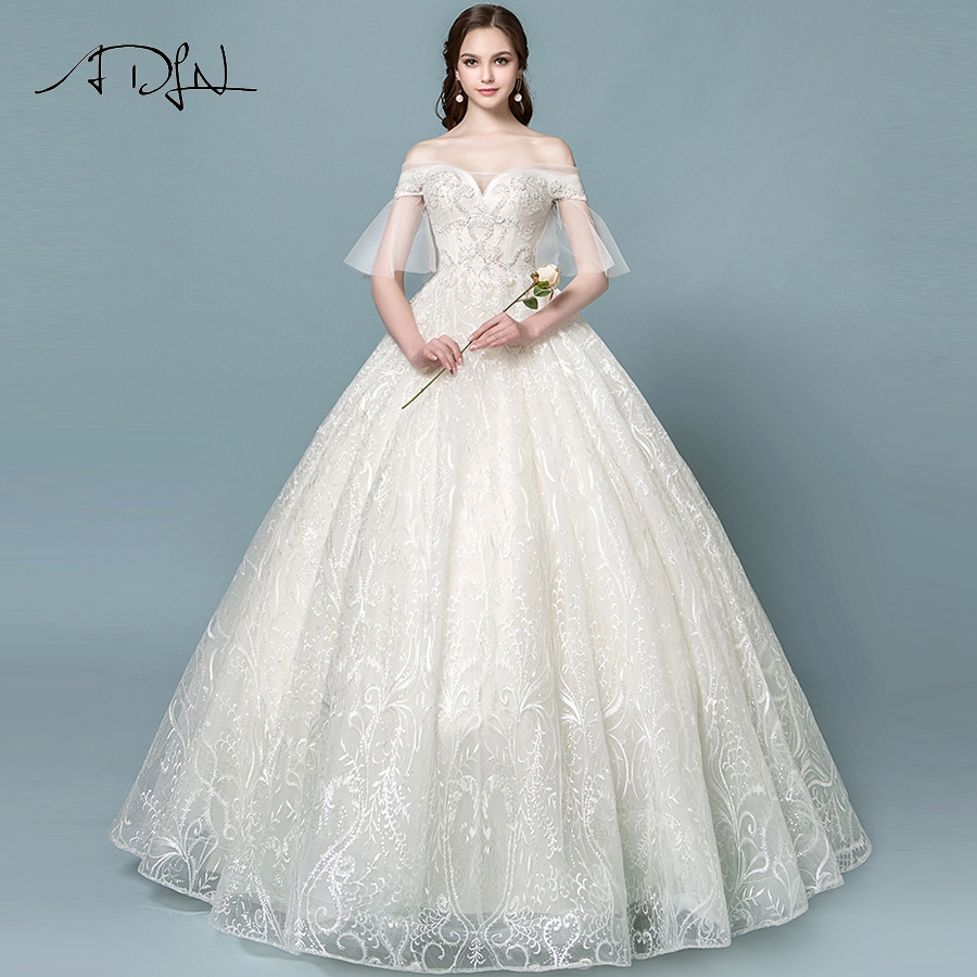 Detail Feedback Questions about ADLN Luxury Sequin Lace Wedding ... eb0a68ac63b1