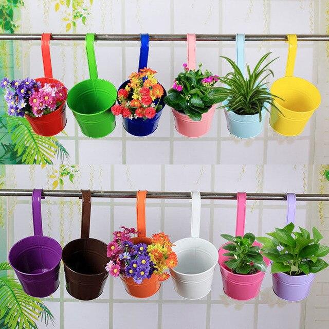60 Pcs Lot Multi Couleur Usine De Metal Pot De Fleur Crochet