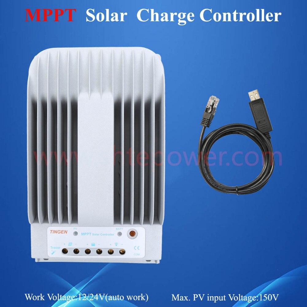 12 В 20A солнечный регулятор, tracer2215bn MPPT pv зарядное устройство контроллер 150 В
