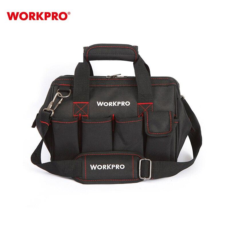 Sac à outils WORKPRO W081020AE outils de réparation professionnels sac à bandoulière ensemble d'outils