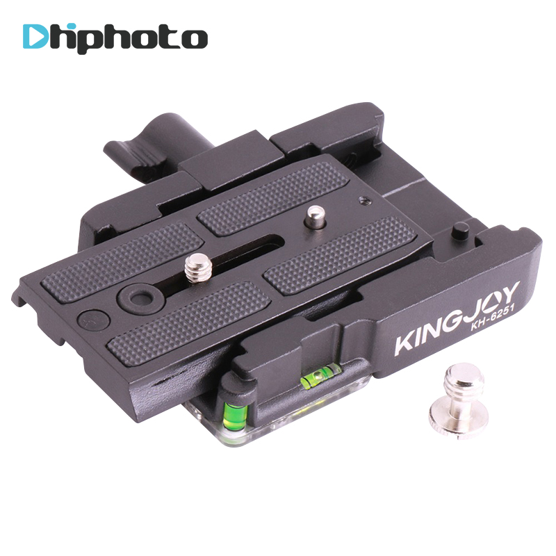KINGJOY KH-6251 Aluminum Alloy Quick Release Plate Adapter for Manfrotto 501HDV 503HD 701HDV 577/519/561/Q5 Video Tripod Head