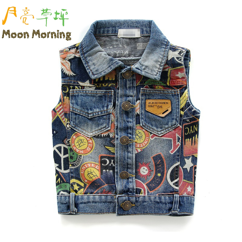 Moon Morning Spring Autumn Kids Vest Unisex Boys G...