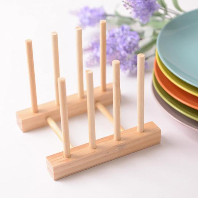 Simple Bookshelf Dish Rack Pots Wooden Plate Stand Wood Kitchen Cups Display Drainer Holder & Simple Bookshelf Dish Rack Pots Wooden Plate Stand Wood Kitchen Cups ...