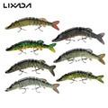 "Lixada 5"" 12.5cm 20g Fishing Lures Lifelike Multijointed 9-segement Pike Swimbait Crankbait Fishing Lure Fake Fish Bait"