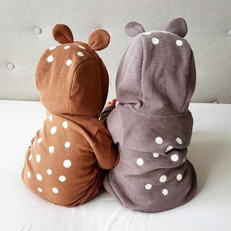 66b5a180f72d Detail Feedback Questions about Baby Brown 3D Deer Romper Cottons ...