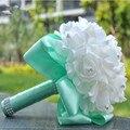 Искусственный Невесты Букет Свадебные Букеты Свадебные Букеты Свадебные Цветы Buque де Noiva с Камнями и Ленты