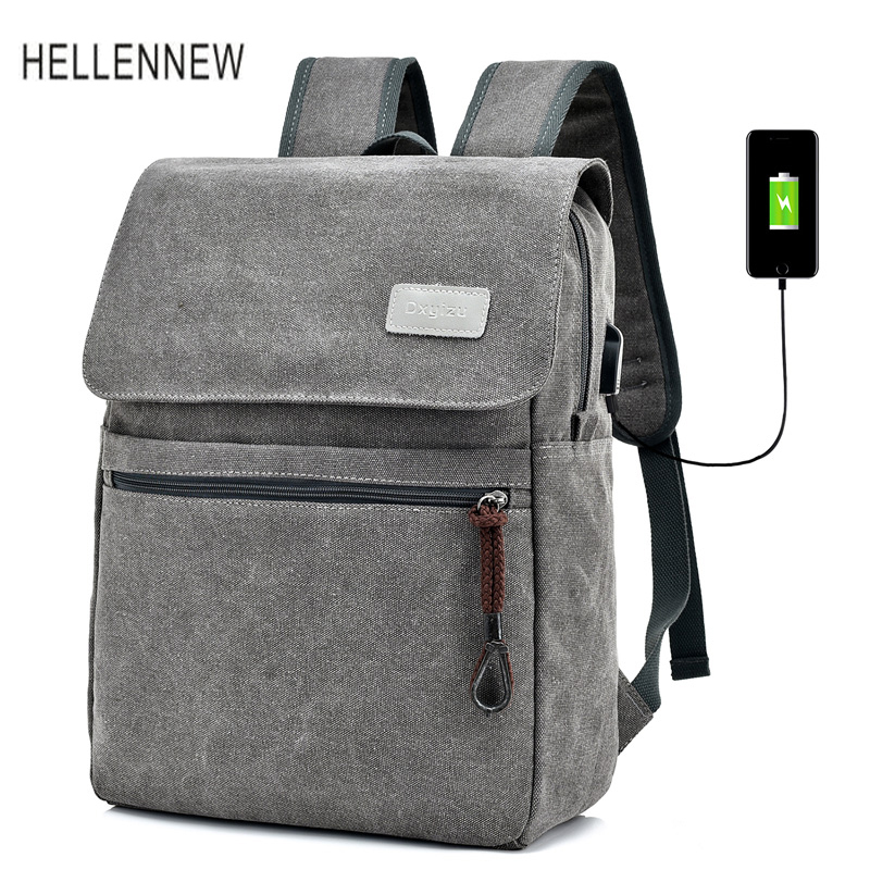 Hellennew Laptop 14 15 Bag School Backpack Backpacking Bags Notebook Bags Mochila Laptop External USB Charge Backpack 8613