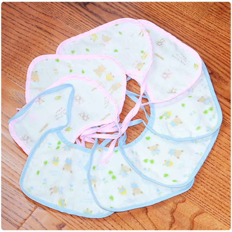 4pcs/lot Newborns Infant 0-3 years Baby Bibs comfortable Soft Babies Bib Saliva Towels Newborn Wear Burp Cloths 1pcs