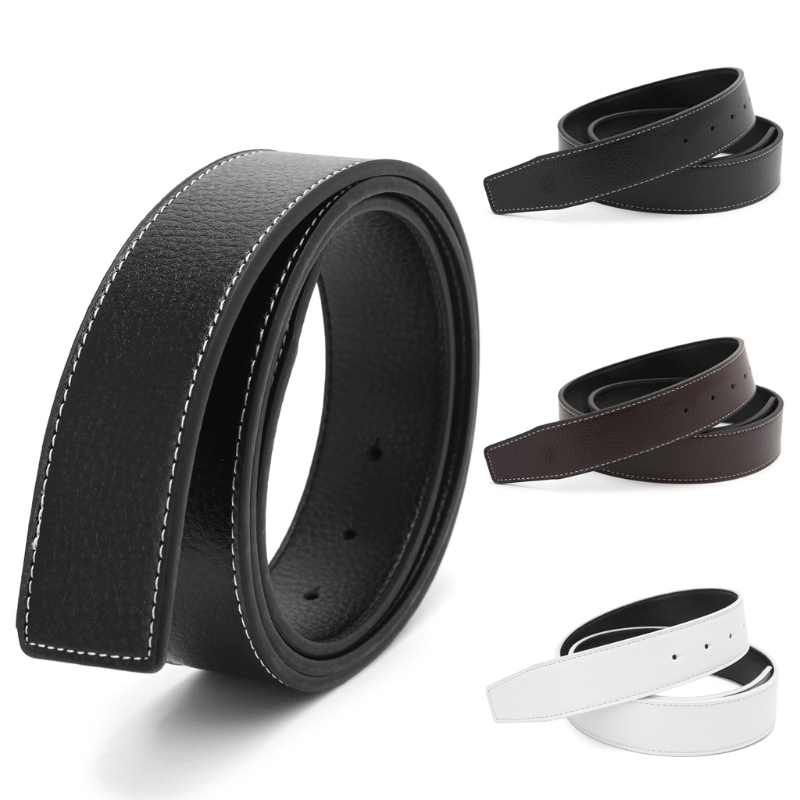 New Luxury Brand   Belts   for Men High Quality Pin Buckle Male Strap Leather Waistband Ceinture Homme No Buckle