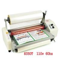 110V 8350T cuatro rodillos  máquina de laminación máquina laminador de frío calor máquina para A3 documento papel fotográfico de velocidad película de laminación